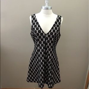 Anthropologie -made in San Francisco Blk/wht Dress